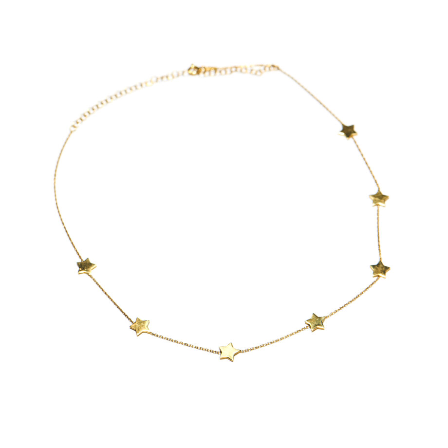 7 Star Necklace Gold