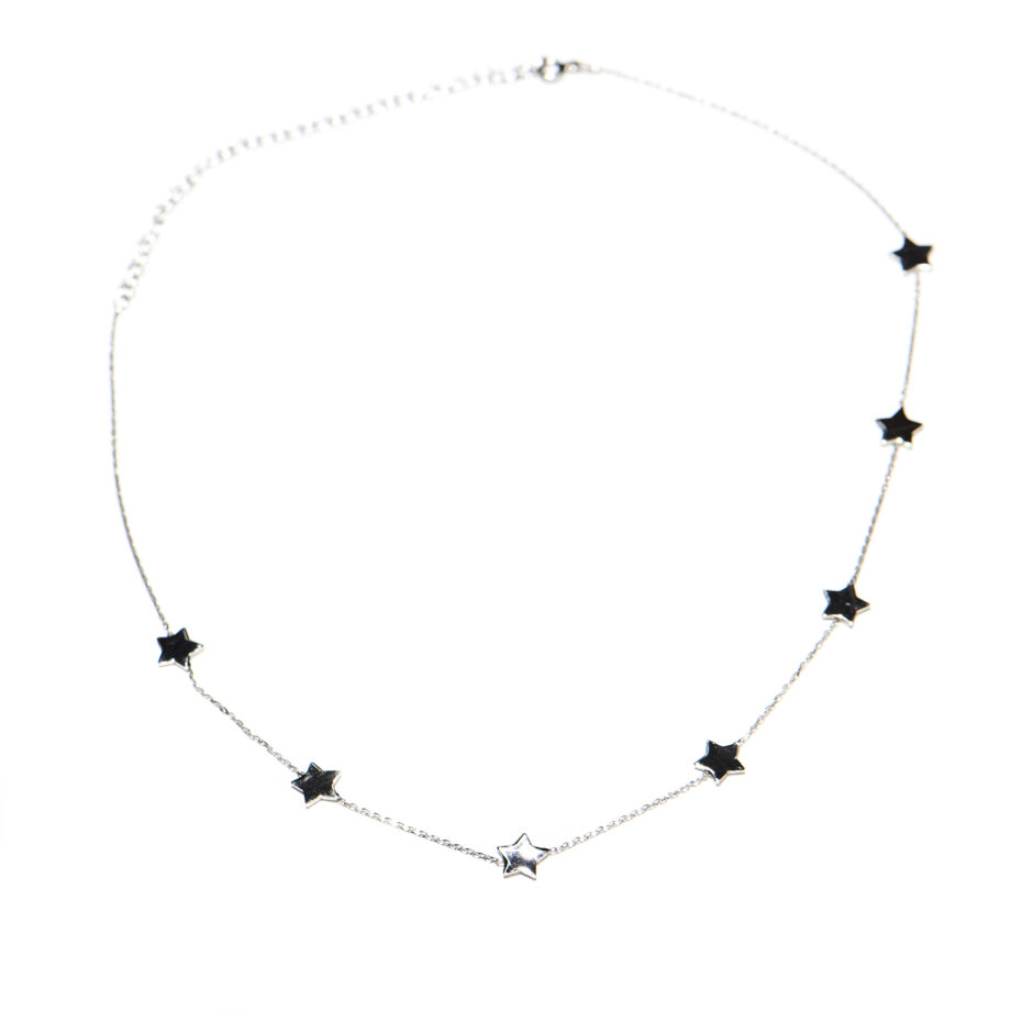 7 Star Necklace Silver