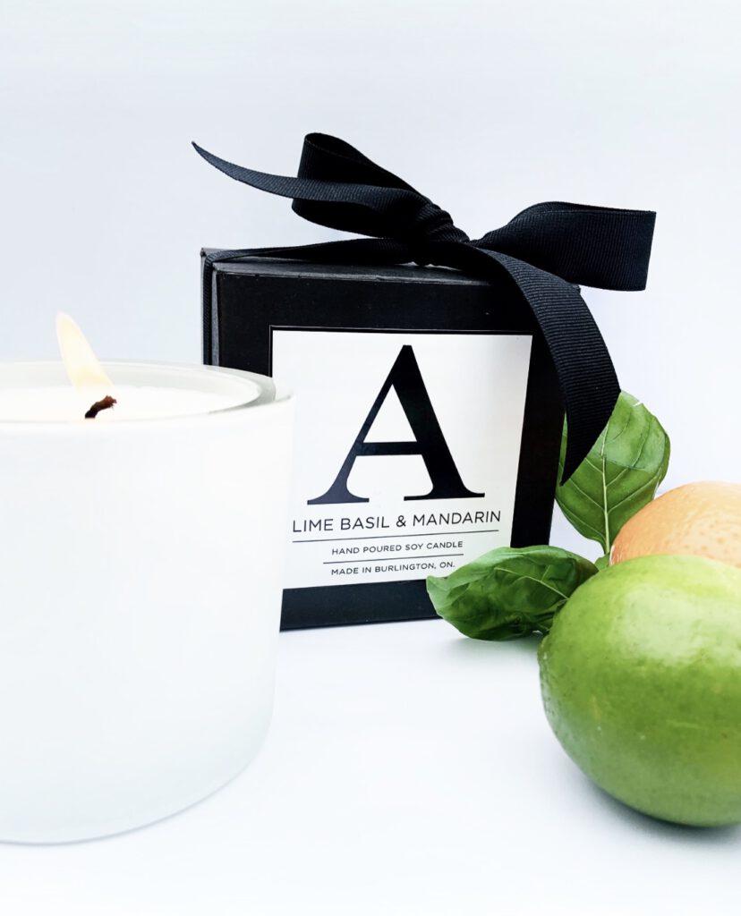 Lime Basil Mandarin Candle Alcorn Hair Signature
