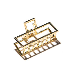 Gold Metal Square Hair Clip