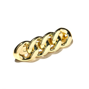 Gold Metal Chain Link Barrette
