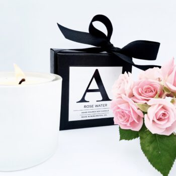 Rosewater Candle Alcorn Hair Signature