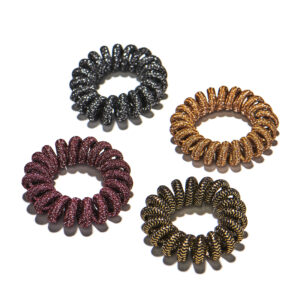 Shimmer Spiral Hair Ties