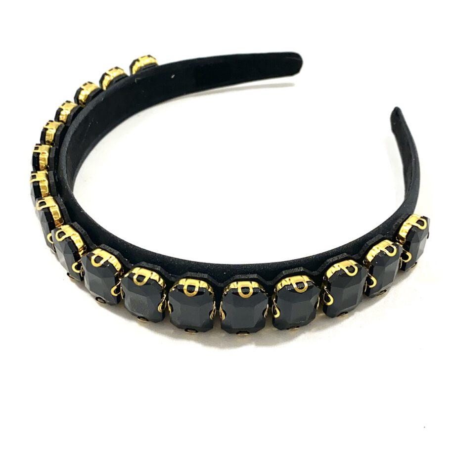 Black Jewelled Headband