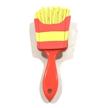 Fries Hair Brush top view