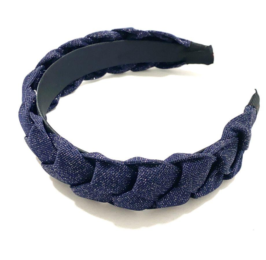 Braided Headband Navy Blue