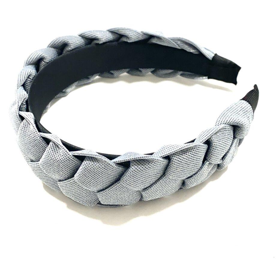 Braided Headband Gray
