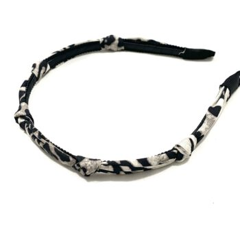 Leopard Knotted Headband - Gray