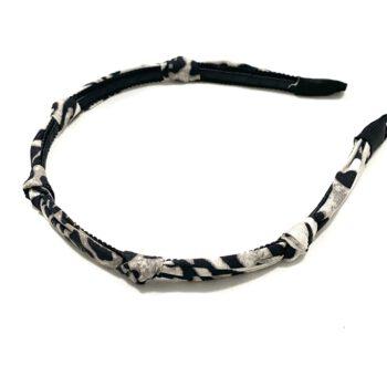 Leopard Knotted Headband - Gray