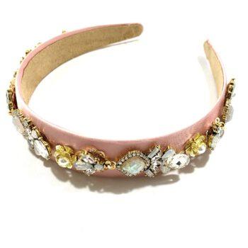 Pink Jewelled Headband