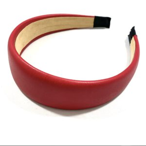 Faux Leather Headband - Red
