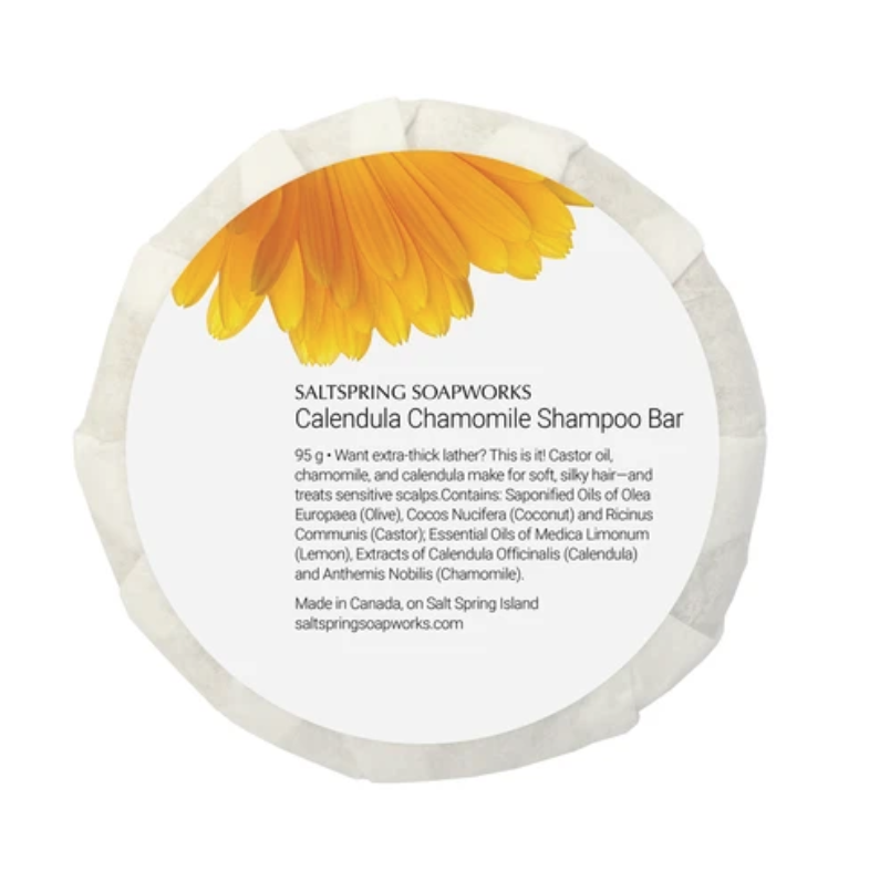 Saltspring Soapwork Calendula Chamomile Shampoo Bar
