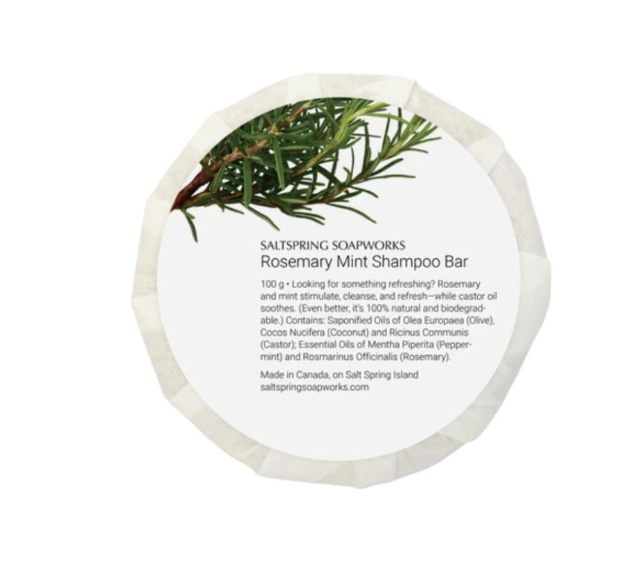 Saltspring Soapworks Rosemary Mint Shampoo Bar