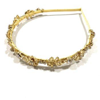 Thin Gold Jewelled Headband